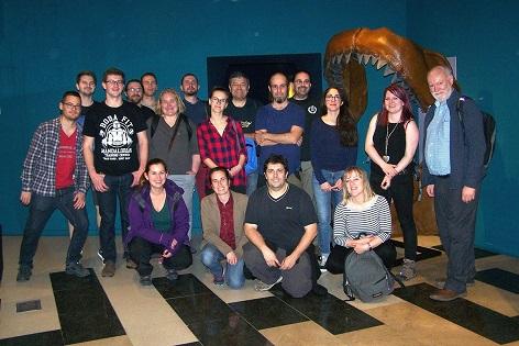 La Asociación Británica de Paleontología visita el MUPE de Elche en su primer viaje a España