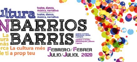 La Regidoria de Cultura d'Alacant presenta la programació de Cultura en barris fins a juliol de 2020