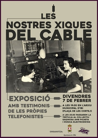 """L'Arxiu Municipal d'Ibi inaugura aquest divendres l'exposició  """"Les nostres xiques del cable"""""""