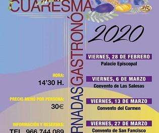 Orihuela acogerá la tercera edición de las Jornadas Gastronómicas de Cuaresma durante los viernes del 28 de febrero al 3 de abril