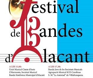 El Ayuntamiento y la Diputación presentan el XXIV del Festival de Bandes d´Alacant