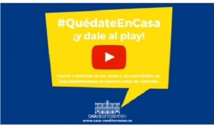 """Casa Mediterráneo anima a """"quedarse en casa"""" con una programación de actividades en sus redes sociales"""