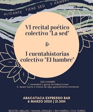 La Poesía es Noticia. Alicante tiene sed y hambre: poesía y cuentos
