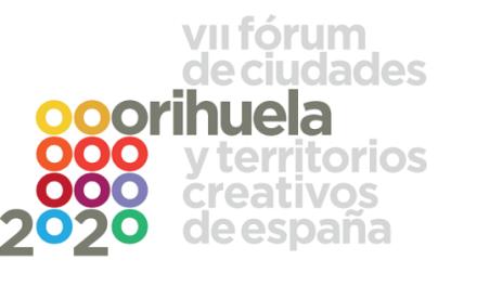 """VII Fòrum de Ciutats i Territoris Creatius d'España """"Orihuela 2020"""", una Edició Especial marcada pel COVID-19"""