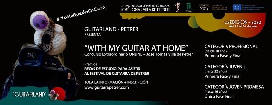 Guitarras de todo el mundo se inscriben en el primer concurso online del Festival Internacional de Guitarra José Tomás Villa de Petrer
