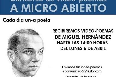 """Concurs de vídeo-poemes """"A Micro Abierto"""" de Villena"""