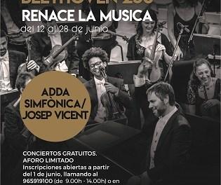 ADDA·Simfònica regresa a los escenarios con el ciclo de conciertos gratuitos 'Renace la música'