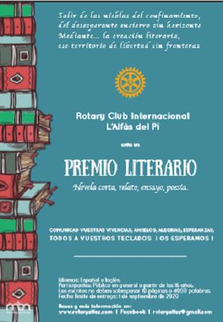 El Rotary Club Internacional L'Alfàs del Pi crea un Premi Literari