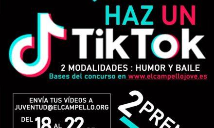 """""""Fes un tik tok sobre el confinament"""": nou concurs d'humor i ball de la regidoria de Joventut de El Campello"""