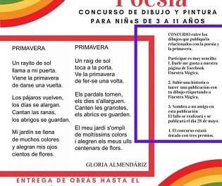 """Finestrat promou la introducció dels més xicotets a la poesia i la creació artística amb el concurs infantil de dibuix i pintura """"Pinta la teua poesia"""""""