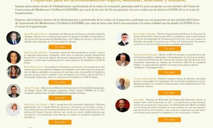 La Universitat d'Alacant reuneix experts per a debatre sobre el futur del turisme i la gastronomia després de la COVID-19