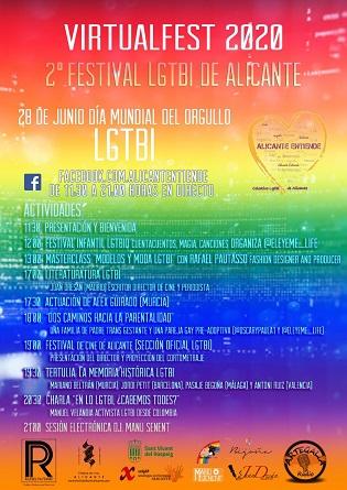 """""""Alicante Entiende» celebra aquest 28j el major Orgull LGTBI virtual de la seua història"""