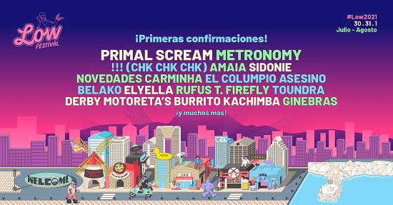 Primal Scream, Metronomy, !!! (Chk Chk Chk) o Amaia, entre las primeras confirmaciones para Low Festival 2021