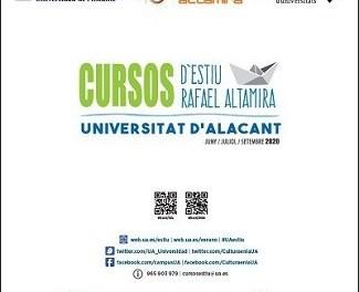 Dilluns que ve comencen els Cursos d'Estiu Rafael Altamira de la Universitat d'Alacant