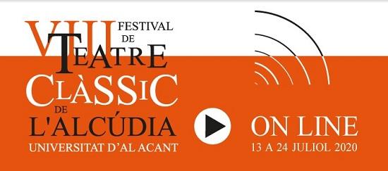 La Universidad de Alicante mantiene el Festival de Teatro Clásico de L'Alcúdia en formato online