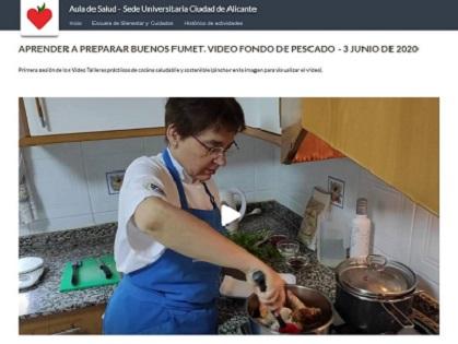 El Centro Mayores Salud de la Universidad de Alicante presenta una colección de vídeo-talleres sobre cocina saludable y sostenible