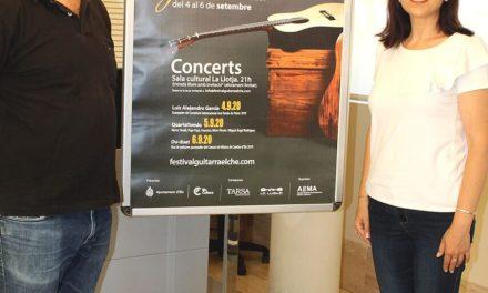 El Festival de Guitarra 'Ciutat d'Elx' se celebrarà durant el mes de setembre