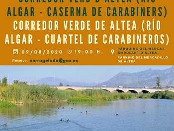El Parque Natural Serra Gelada y las concejalías de Turismo y Medio Ambiente organizan una ruta por el Corredor Verde de Altea