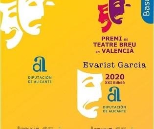 La Diputación de Alicante convoca una nueva edición del Premi de Teatre Breu en Valencià 'Evarist Garcia'