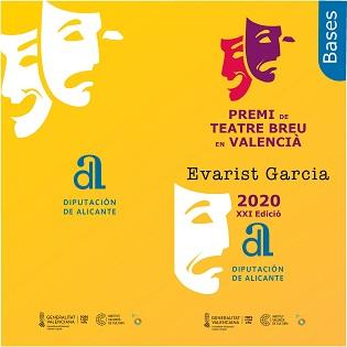La Diputació d'Alacant convoca una nova edició del Premi de Teatre Breu en Valencià 'Evarist Garcia'