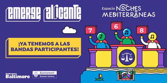 """Casi un centenar de inscripciones en el certamen """"Emerge Alicante"""" de promoción de bandas alicantinas"""