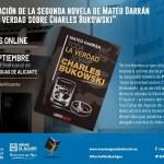 Mateo Darrán presenta su segunda novela Toda la verdad sobre Charles Bukowsy
