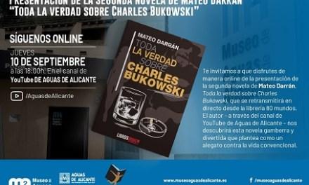 Mateo Darrán presenta la seua segona novel·la Toda la verdad sobre Charles Bukowsy