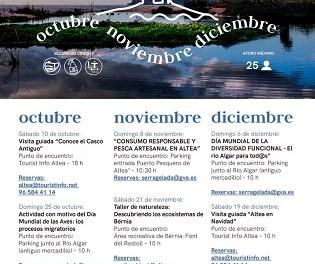 Turismo de Altea presenta la programación para los meses de otoño