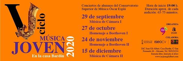 La Casa Bardín torna a acollir els cicles musicals amb alumnes del Conservatori de música Óscar Esplá