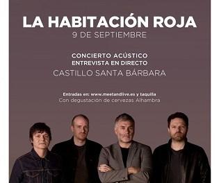 """La Habitación Roja protagoniza """"Momentos Alhambra"""" en el Castillo de Santa Bárbara el 9 de septiembre"""