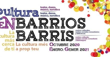 El programa Cultura en Barris d'Alacant activa el seu programa d'octubre a gener amb més de cent activitats de lliure accés