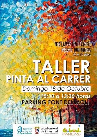 """Finestrat celebra una nueva edición de """"Pinta al carrer"""" en la Font del Molí"""