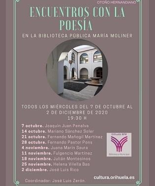 """Fernando Pastor Pons recitará este próximo miércoles en la Biblioteca Pública Municipal """"María Moliner"""" de Orihuela"""
