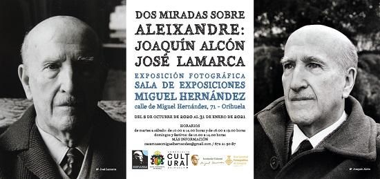 Inauguració d'una exposició fotogràfica sobre Vicente Aleixandre a la sala del Racó Hernandià