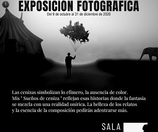 "El Grup Fotogràfic de Petrer inaugura l'exposició fotogràfica ""Sueños de Ceniza"" de José Antonio López Rico"