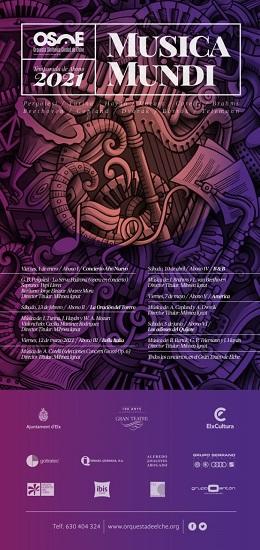 La Orquesta Sinfónica Ciudad de Elche presenta su nueva temporada 'Musica Mundi' que arrancará el 1 de enero con el concierto de Año Nuevo