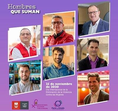 Siete hombres protagonizan la nueva campaña puesta en marcha por el Ayuntamiento de Elda contra la violencia machista