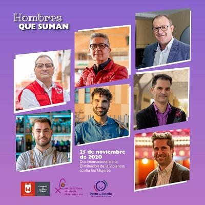 Set homes protagonitzen la nova campanya posada en marxa per l'Ajuntament d'Elda contra la violència masclista