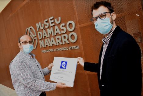 """El Museo Dámaso Navarro de Petrer entra en la lista de los 10 únicos museos de España con la """"Q de Calidad Turística"""""""