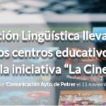 """Normalización Lingüística lleva el cine en valenciano a los centros educativos de Petrer a través de la iniciativa """"La Cinemateca"""""""
