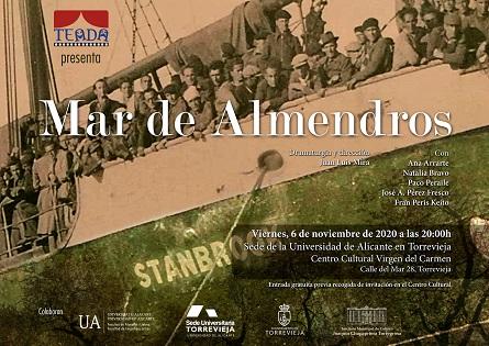 """El Centro Cultural Virgen del Carmen acoge el viernes, 6 de noviembre, la obra de teatro """"Mar de almendros"""""""