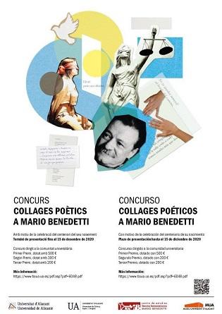 La Universitat d'Alacant llança el concurs Collages Poètics a Mario Benedetti