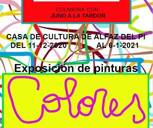 Este viernes se presenta en l'Alfàs la Exposición 'Colores' del ciclo cultural Juno a la Tardor