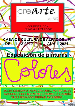 Aquest divendres es presenta a l'Alfàs l'Exposició 'Colores' del cicle cultural Juno a la Tardor