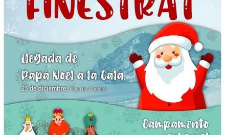 Finestrat es prepara per a l'arribada de Papà Noel a la Cala i el campament real en el centre històric