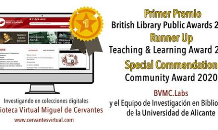 La British Library premia l'equip d'investigació en biblioteques digitals de la Universitat d'Alacant