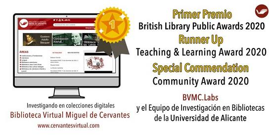 La British Library premia al equipo de investigación en bibliotecas digitales de la Universidad de Alicante