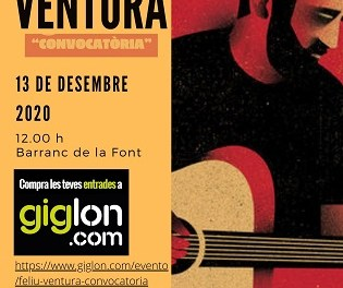 Concierto de Feliu Ventura en Jijona este domingo