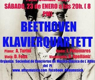 Beethoven Klavierquartett ofrecerá este fin de semana dos conciertos en l'Alfàs