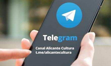 La Concejalía de Cultura de Alicante activa el servicio de mensajería Telegram para aumentar la relación directa con sus seguidores
